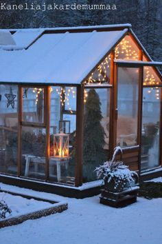 Winter green house. Not that we get snow like that here, but still love it!