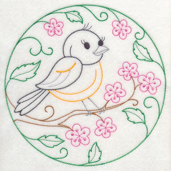 Baltimore Oriole and Cherry Blossoms (Vintage) | Coisas lindinhas da ...