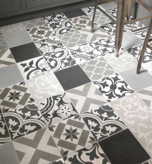 Painting Bathroom Tiles Better Homes And Gardens patchwork encaustic tiles from ca' pietra. these grey patchwork