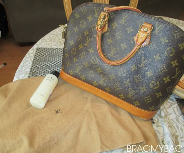 How To Clean And Care Your Louis Vuitton Alma Bag in Monogram Canvas