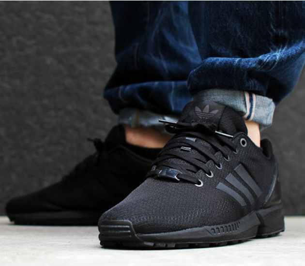 new style 818dc 36f9e adidas Originals ZX FLUX Mesh-Black-Black-Chalk