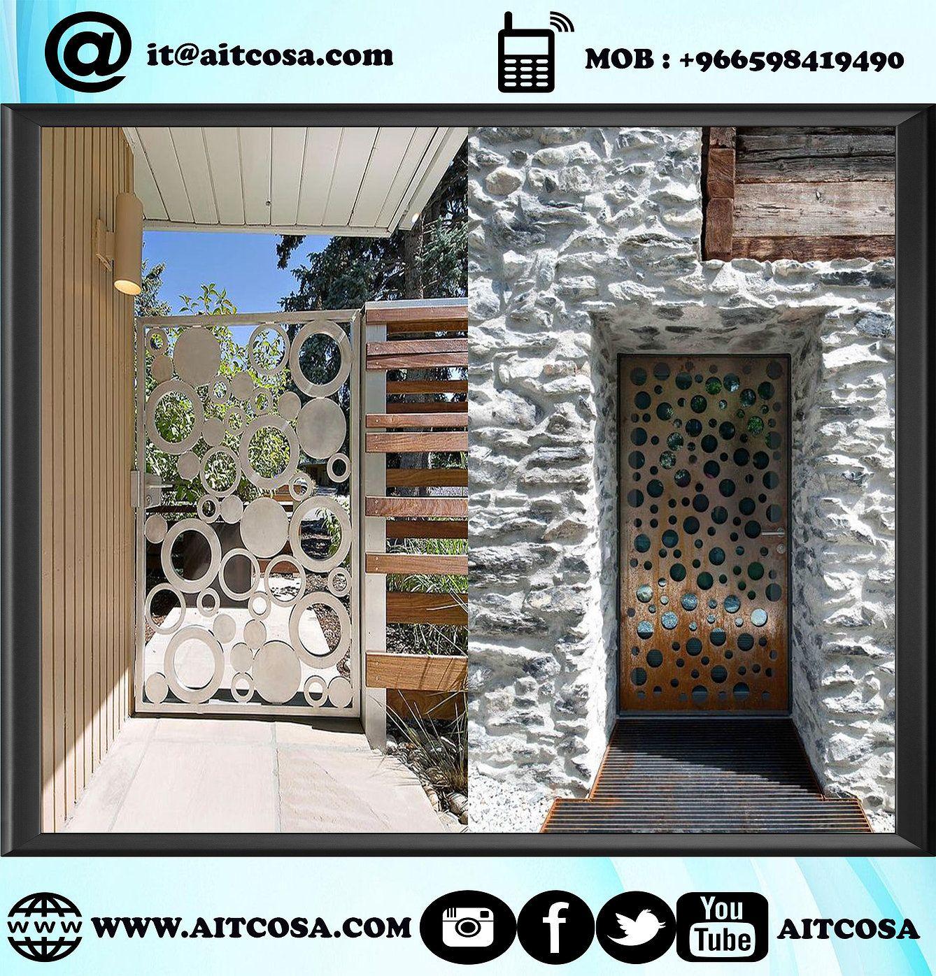 ابواب حديد خارجية 96659841490 Gallery Wall Design Doors