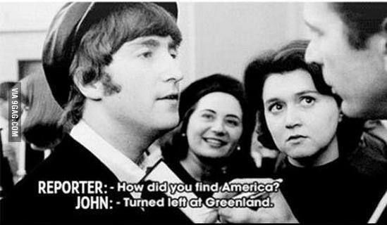 How Did You Find America Beatles Funny The Beatles John Lennon Beatles