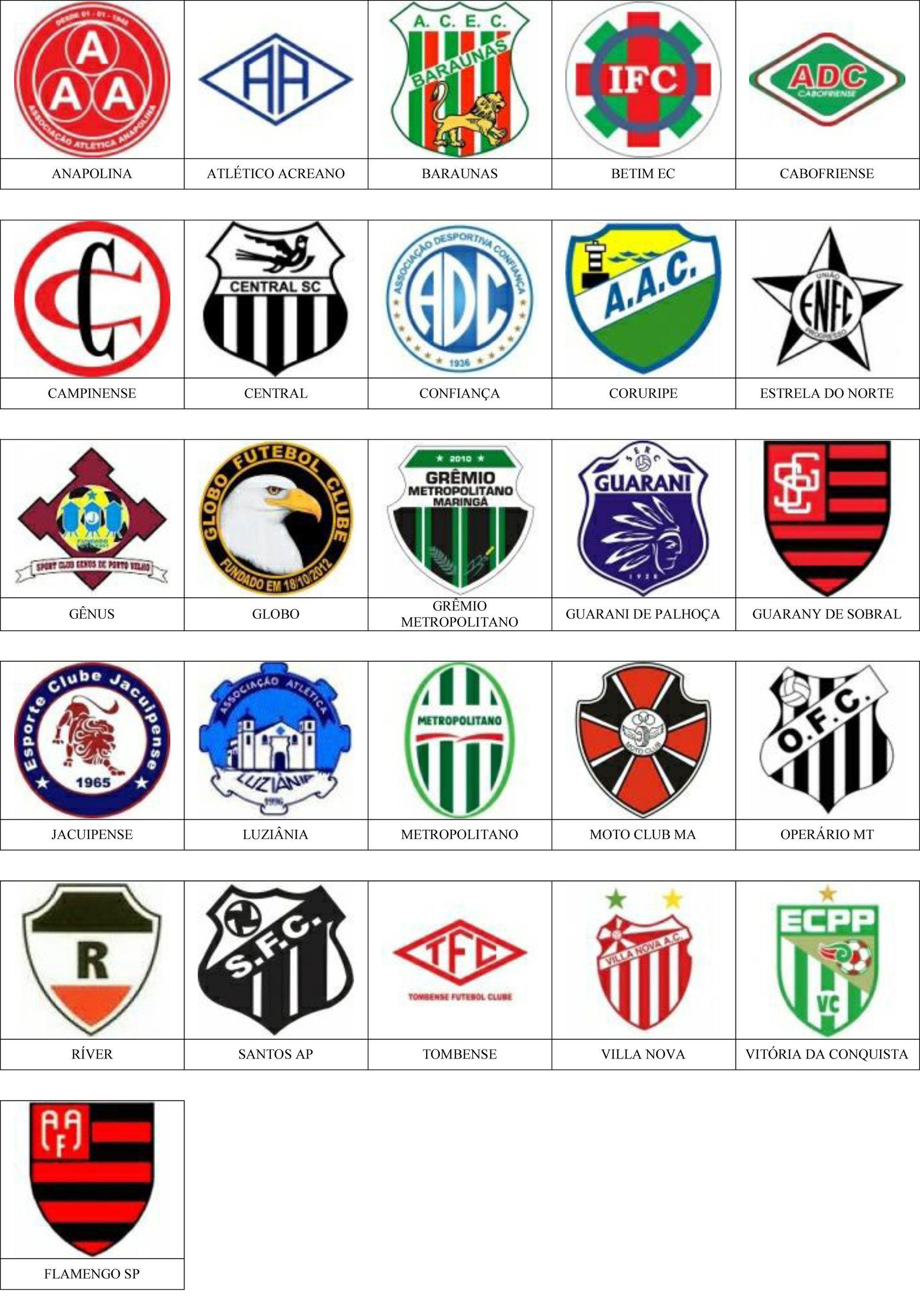 Brasil Pins De Escudos Insiginas De Equipos De Fútbol Equipo De Fútbol Escudo Escudos De Equipos