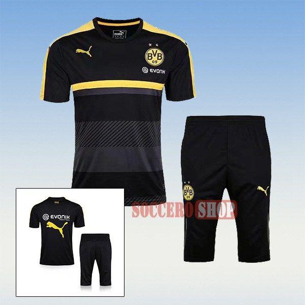 Custom Thai Quality Pre-Match Borussia Dortmund Black Training Jersey Kits  + 3 4 Training Pants 2017 2018 c738a78b2