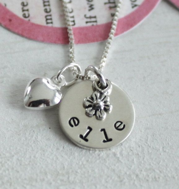 5f19749811690 Girls Personalized Name Necklace, Girls Personalized Jewelry, Cross ...
