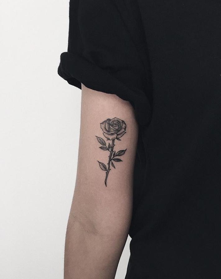 Arm Rose Female Tattoo Designs
