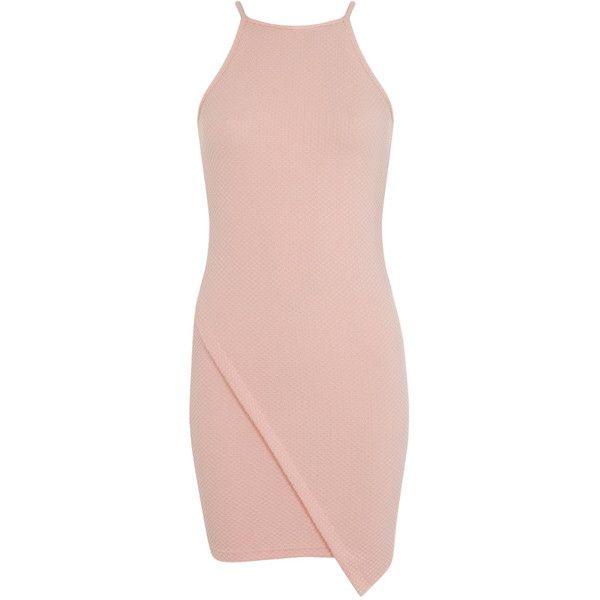 Miss Selfridge Petites Wrap Bodycon Dress (£9.32) ❤ liked on ...