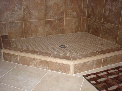 Ceramic Tile Shower Shower Curb Or Shower Dam