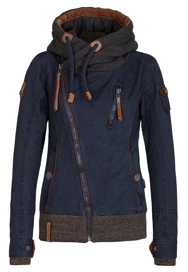 Naketano Female Jacket Walk The Line Dark Blue, M | Camping