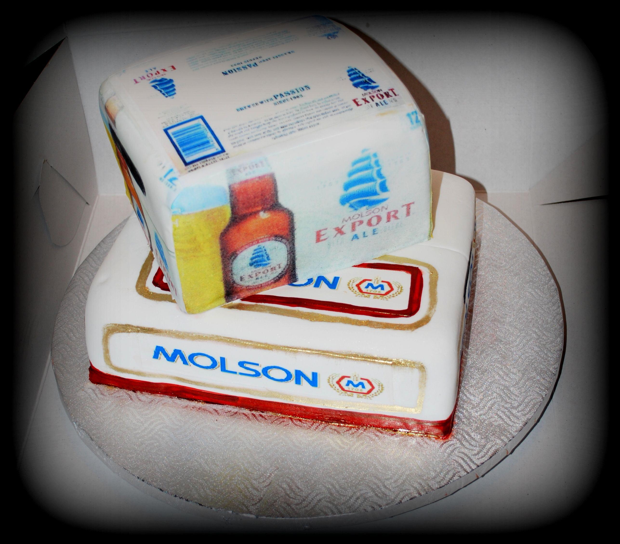 G teau molson export cake fondant et impression comestible - Impression gateau ...
