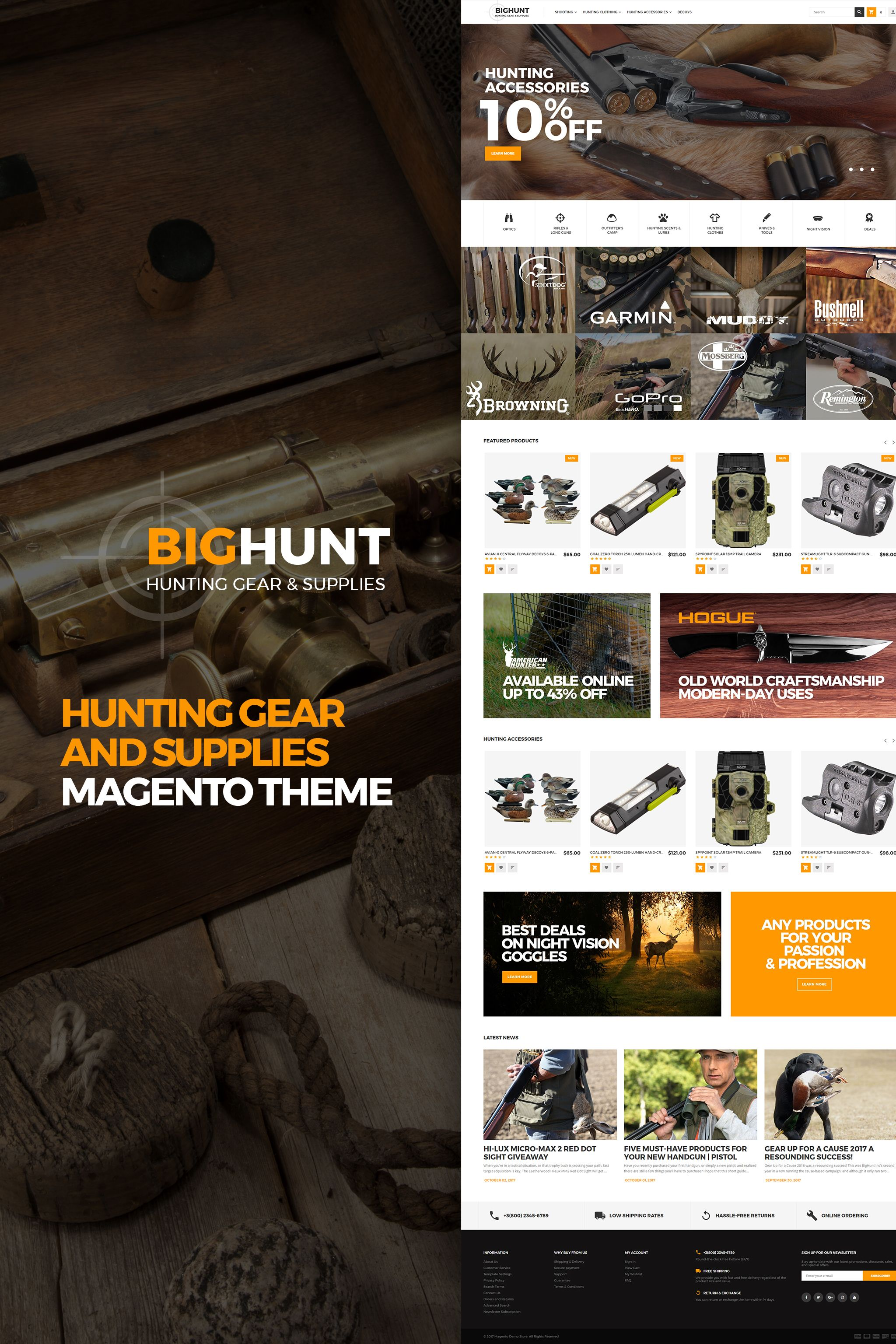 BigHunt - Hunting Gear and Supplies Magento 2 Theme