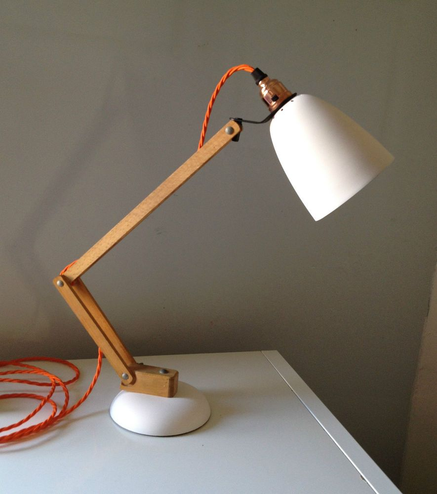1960s Vintage Desk Lamp Wooden Arm Maclamp By Terence Conran Eames Stilnovo In Antiques Antique
