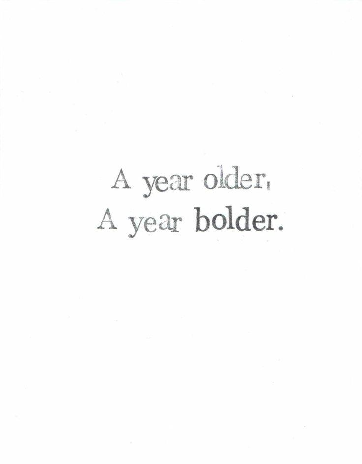 Older Bolder Birthday Card | Funny Inspirational Feminist Birthday Card