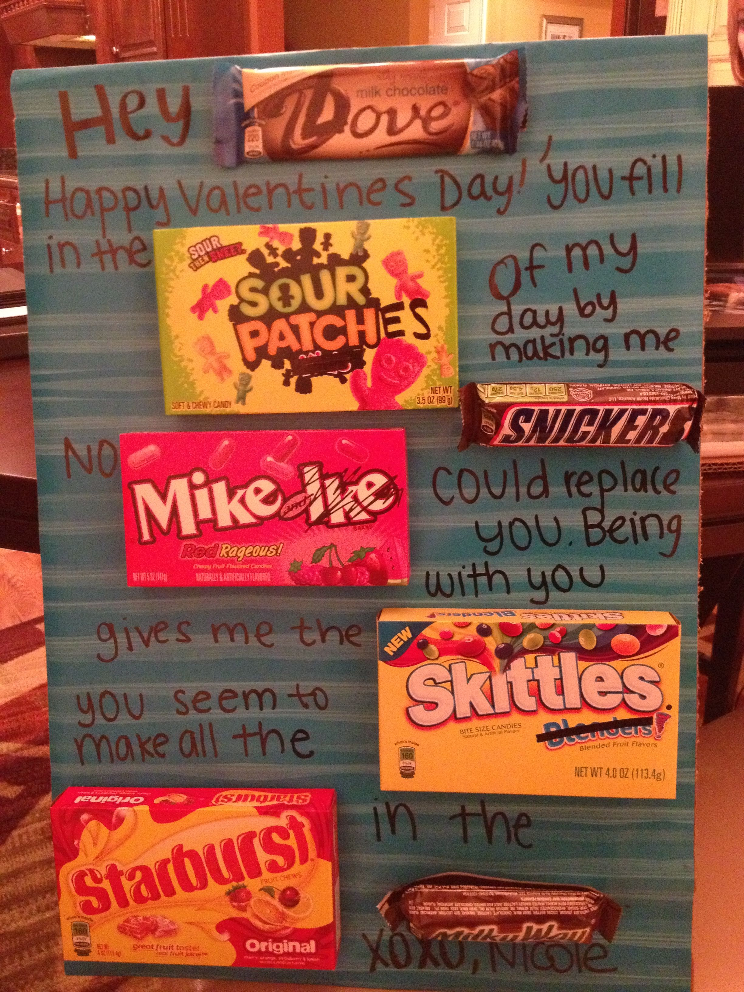 Valentines I Did For My Boyfriend This Year Candy Sayings -8880