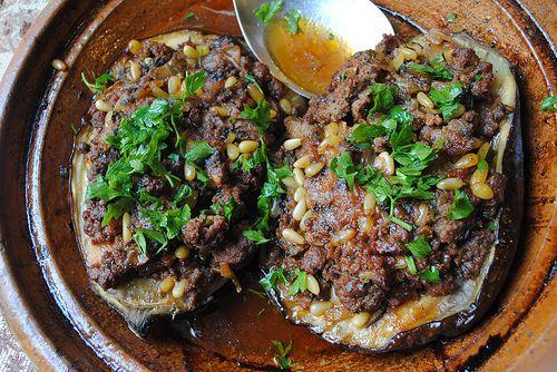 Lamb-Stuffed Eggplant