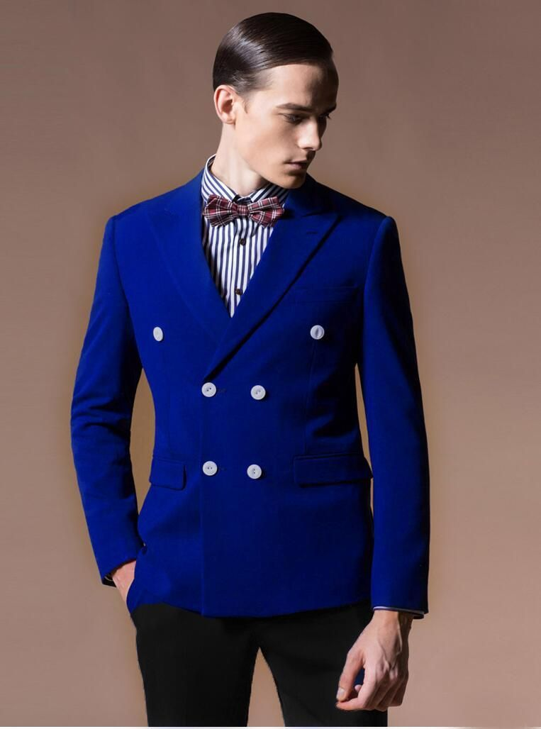 8da6db91342 Latest Coat Pant Designs Royal Blue Velvet Men Suit Groom Style Suits Prom  Jacket Tuxedo Skinny 2 Piece Custom Blazer Masculino
