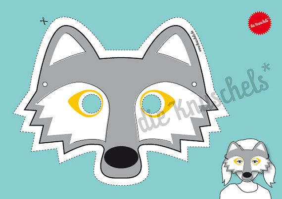 wolf mask for children pdf print it yourself by. Black Bedroom Furniture Sets. Home Design Ideas