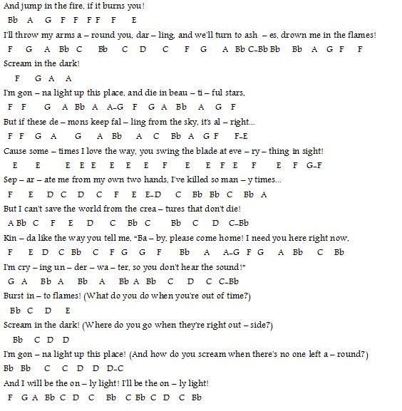 Grenade Flute Sheet Music With Lyrics: Sheet Music For Cello