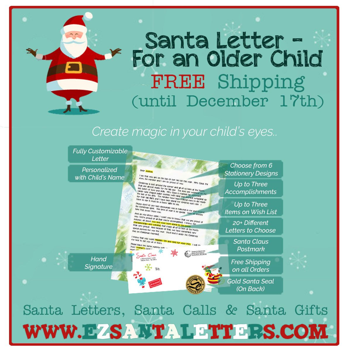 A Letter From Santa For An Older Child HttpWww