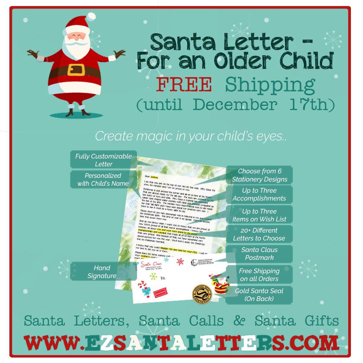 A Letter From Santa For An Older Child HttpWww
