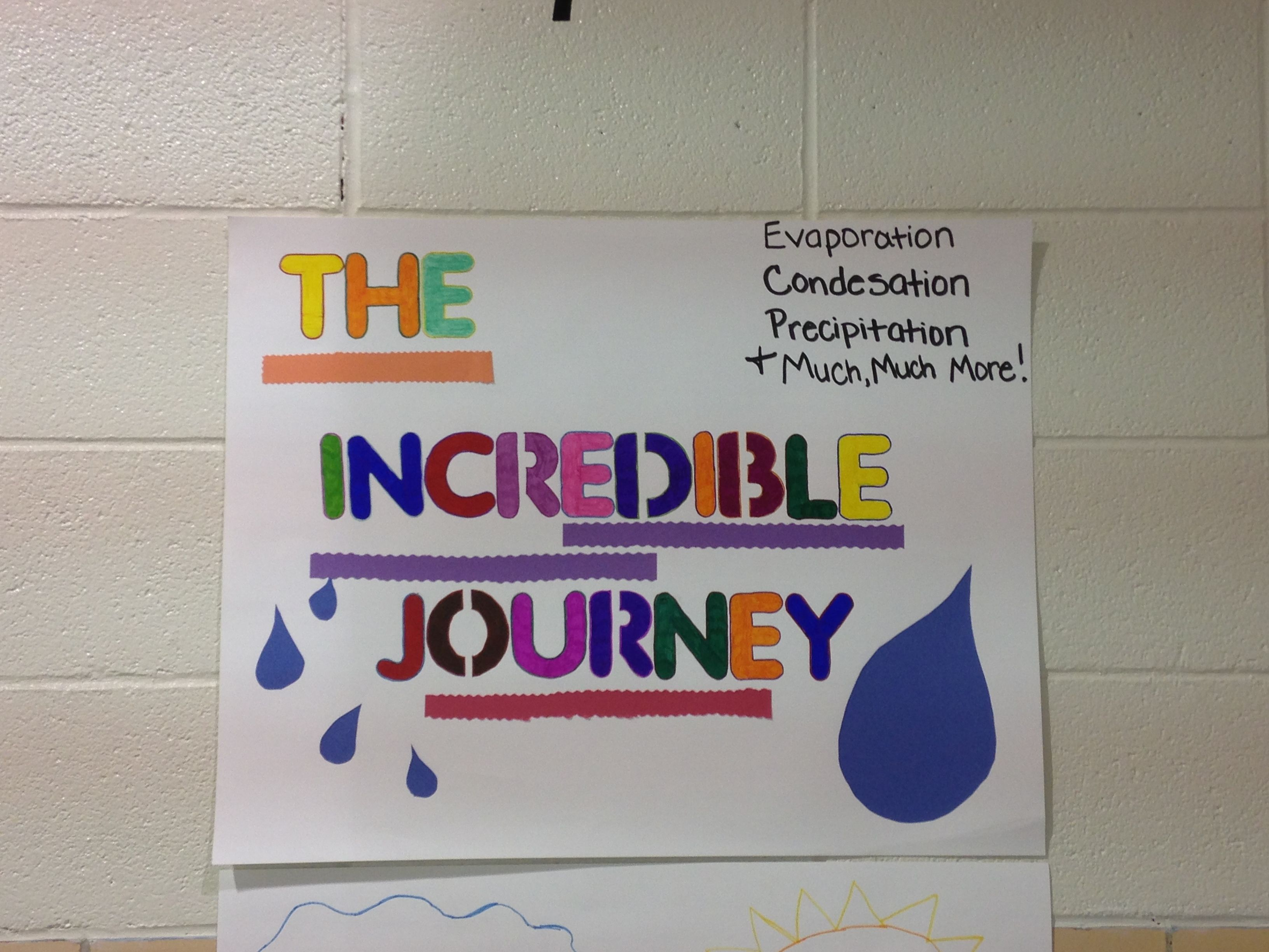 The Incredible Journey Water Cycle Activity