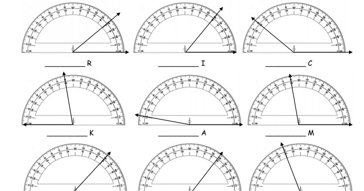 Using a Protractor 4th grade math, Math tasks, Math teacher