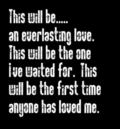 This will be an everlasting love lyrics