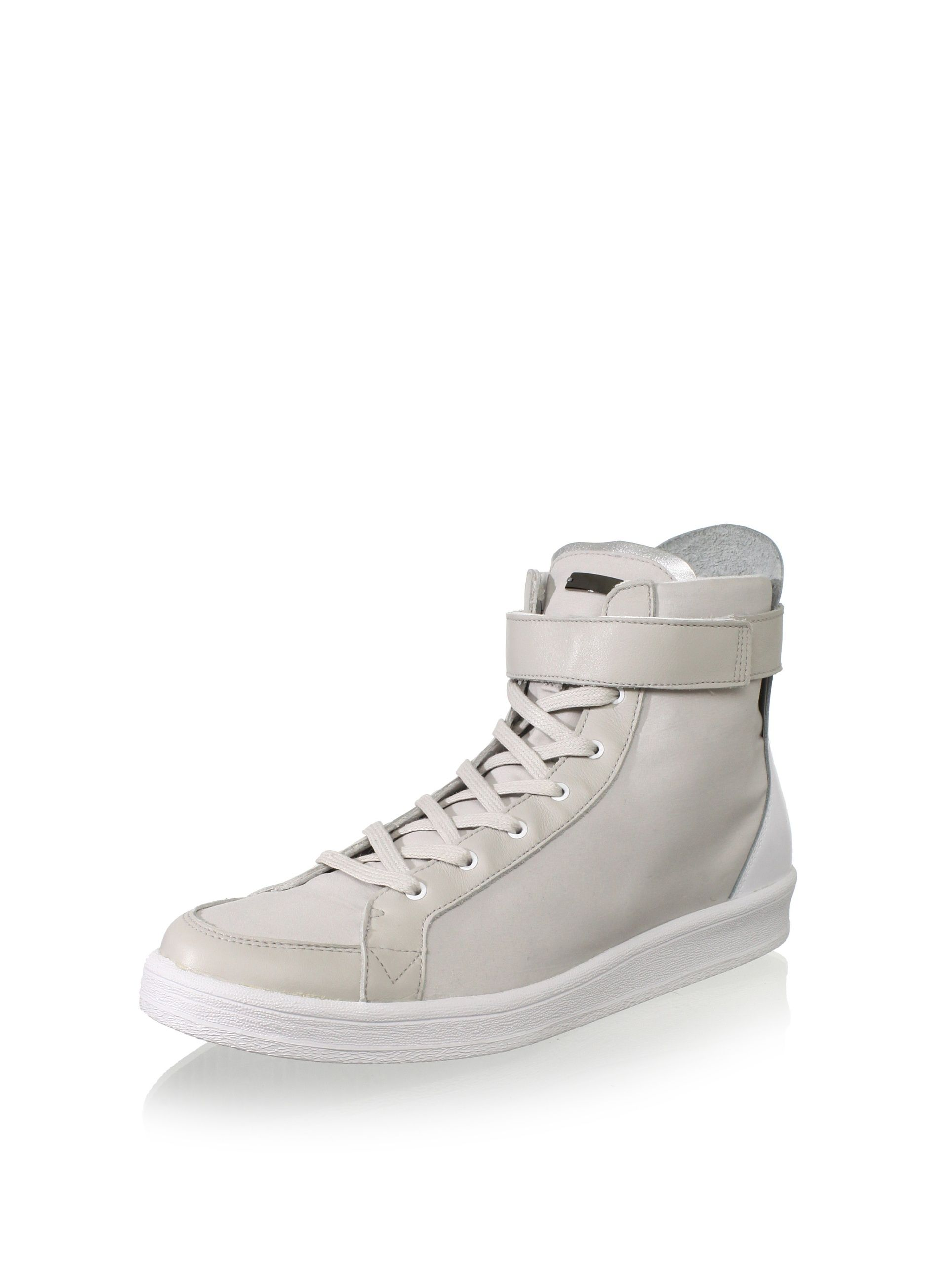 411ab49f4bc8 adidas SLVR Men s Cupsole Hi-Top Sneaker (Light Grey White Silver) Hi-top  design features a hook-and-loop strap and a contrasting back leather panel  ...