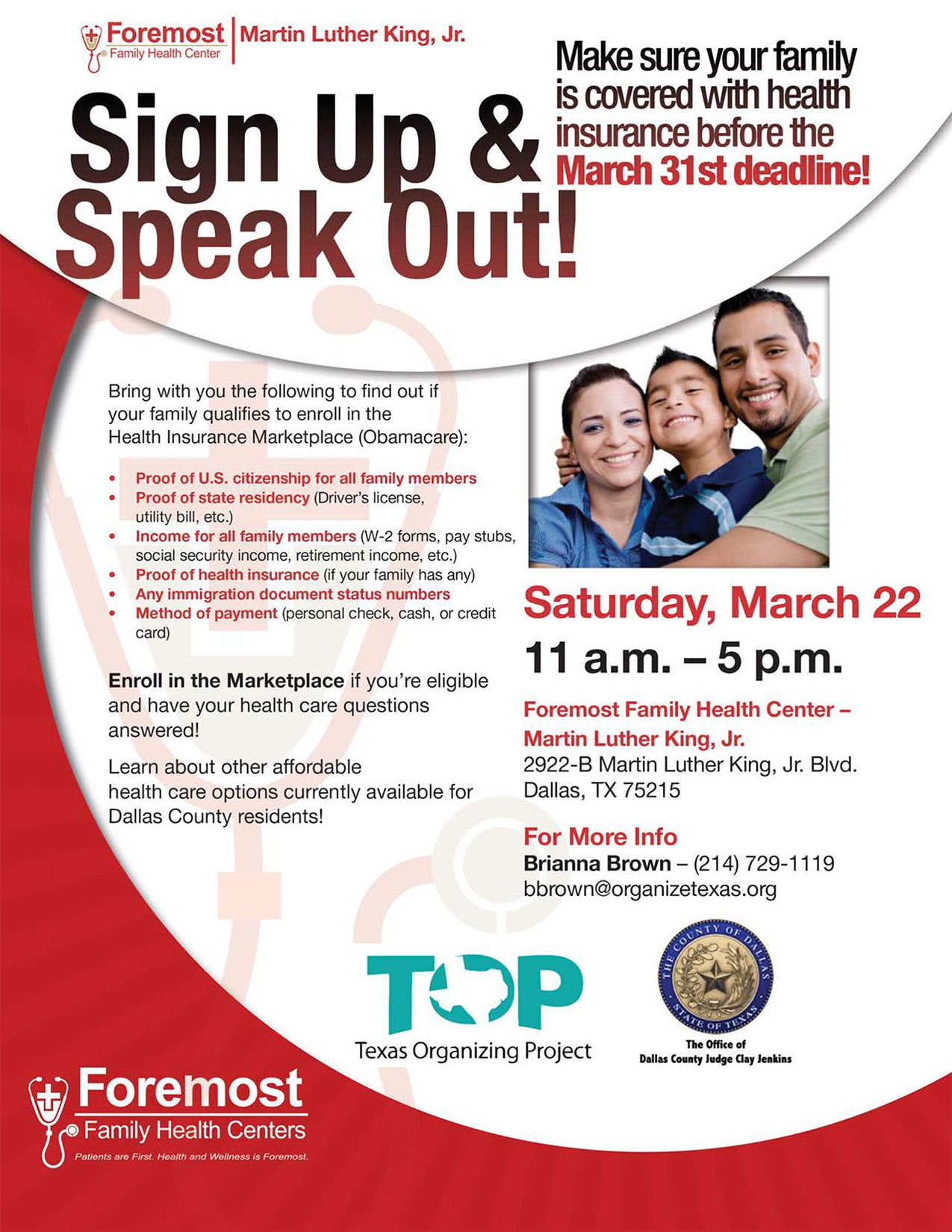 Sign up and Speak Out! Find out if your family qualifies