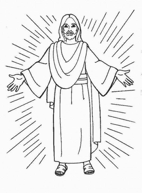 Resultado de imagen para jesus animado para pintar