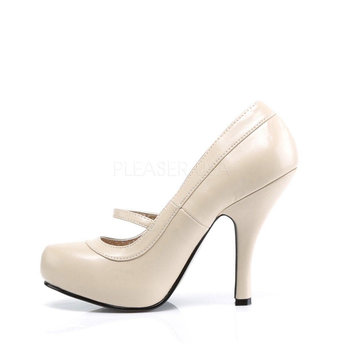 4444aebd6ac1 Pin Up Couture - CUTIEPIE-02 - Cream Pu - Platforms