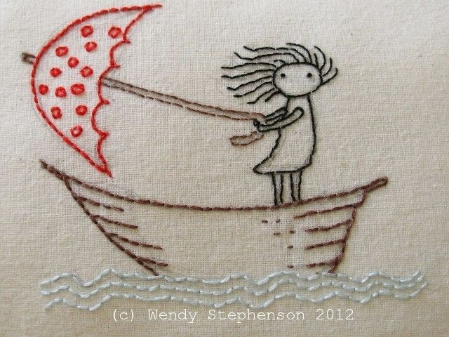 She stood in the storm Embroidery Pattern by Wendalene #embroidery