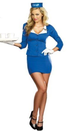 Sexy Ladies Air Hostess Costume Trolley Dolly Flight Attendant Costume Amazon.co.uk Clothing  sc 1 st  Pinterest & Sexy Ladies Air Hostess Costume Trolley Dolly Flight Attendant ...