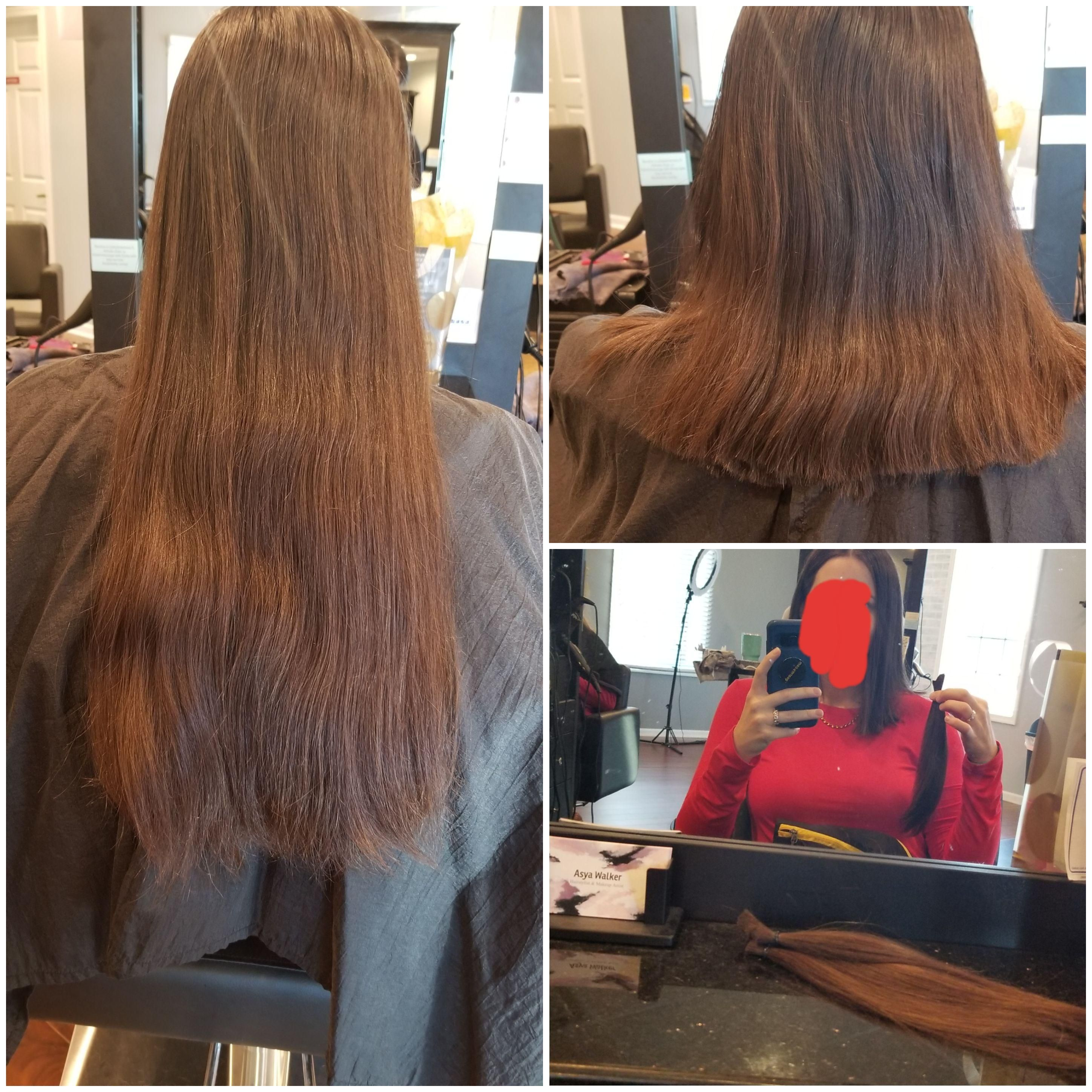 5th hair donation in under 16 yrs  So much lighter now #hair