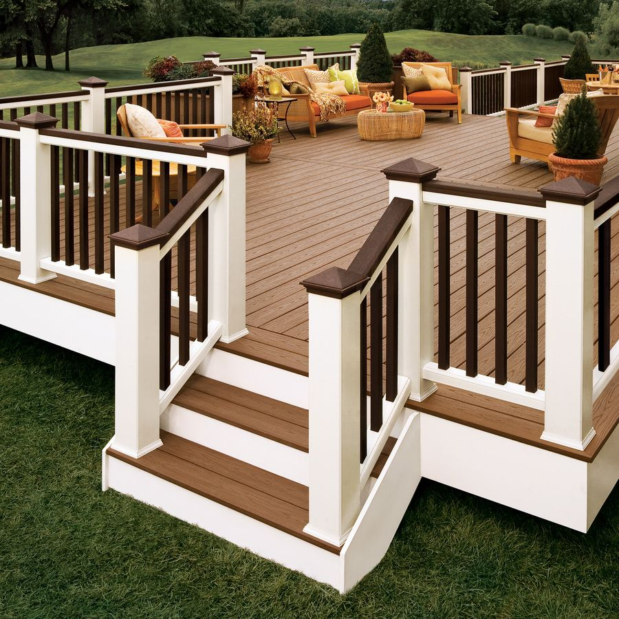 Like The Shape Of This Deck Smaller Version Though Not So Much The Colours Would Put Lights On The Stairs Outdoor Spaces Backyard Backyard Deck
