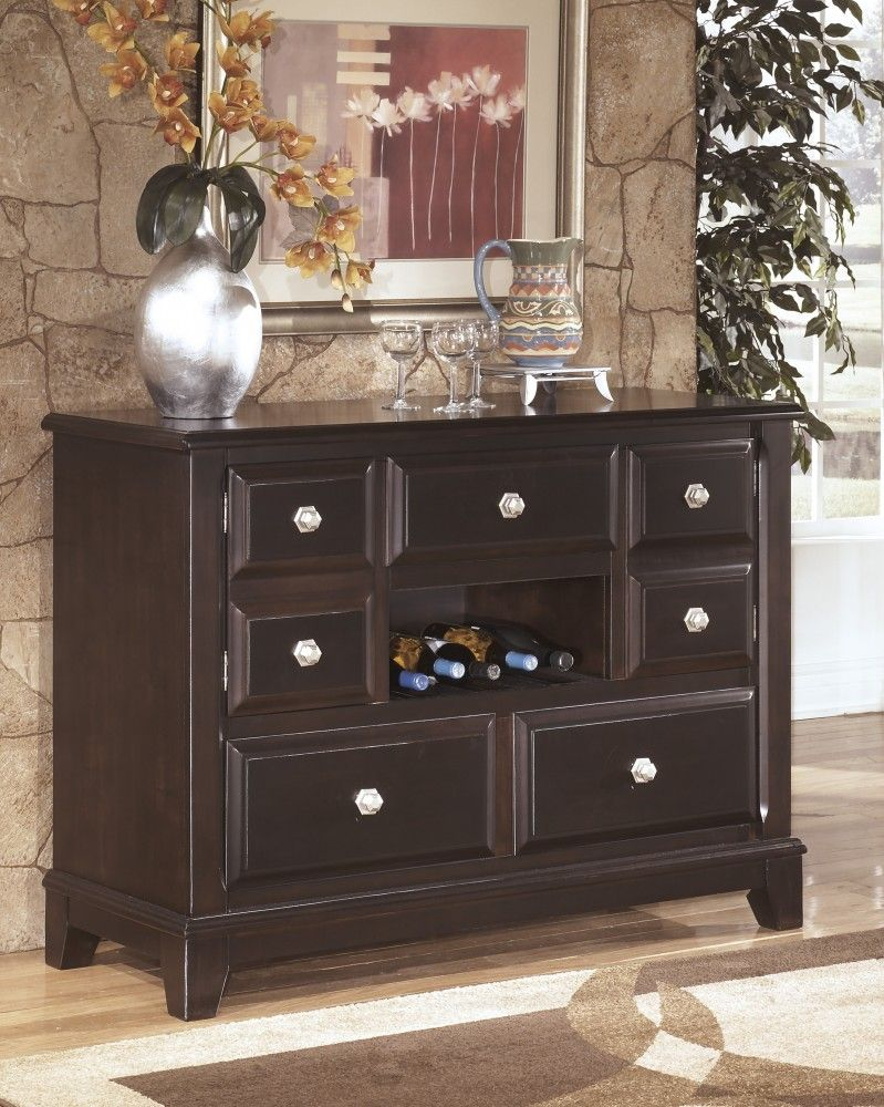 Ridgley - Dark Brown - Dining Room Buffet | dining room servers ...