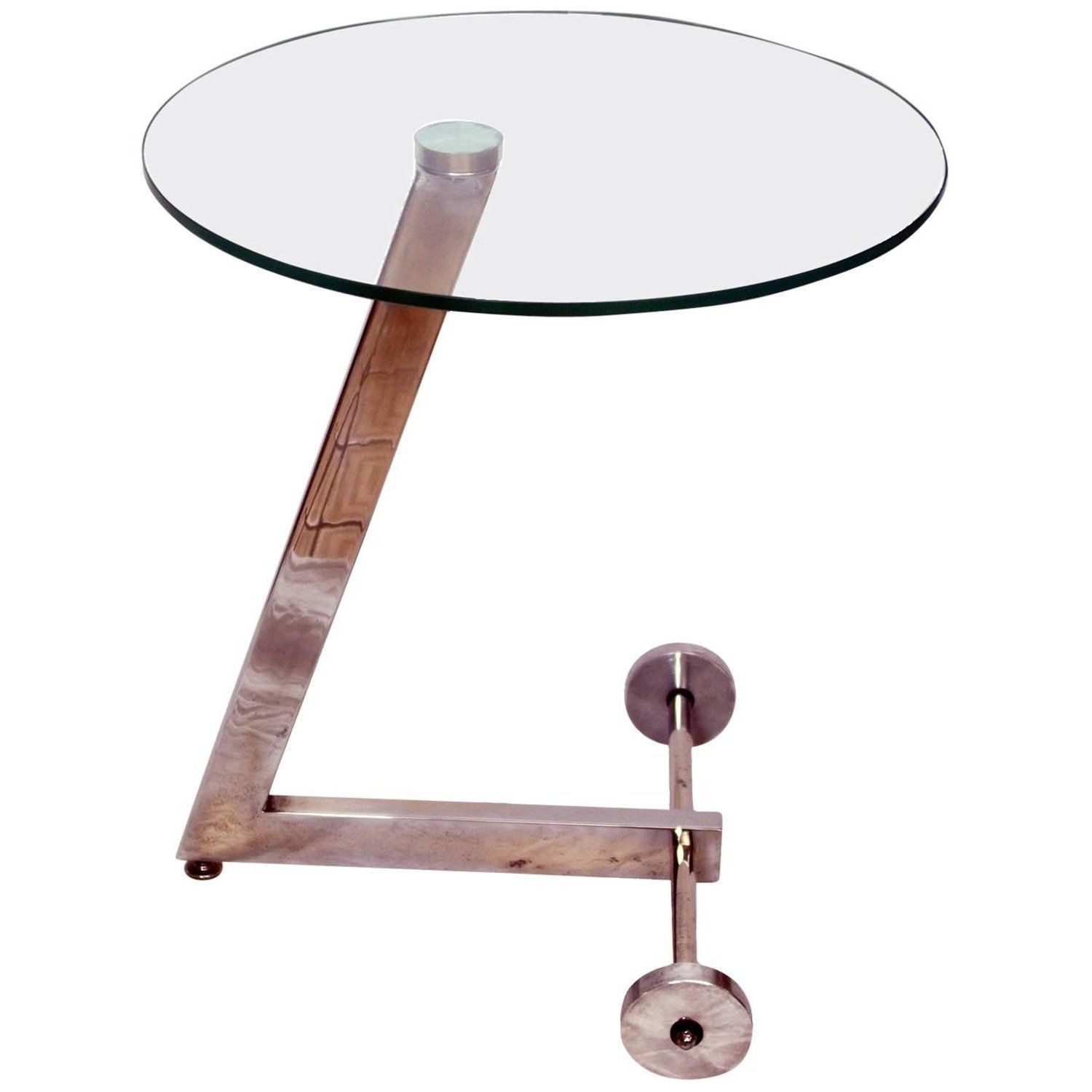 1960s Round Glass And Chrome Wheeled Side Table Side Table Vintage Side Table Vintage Table [ 1500 x 1500 Pixel ]