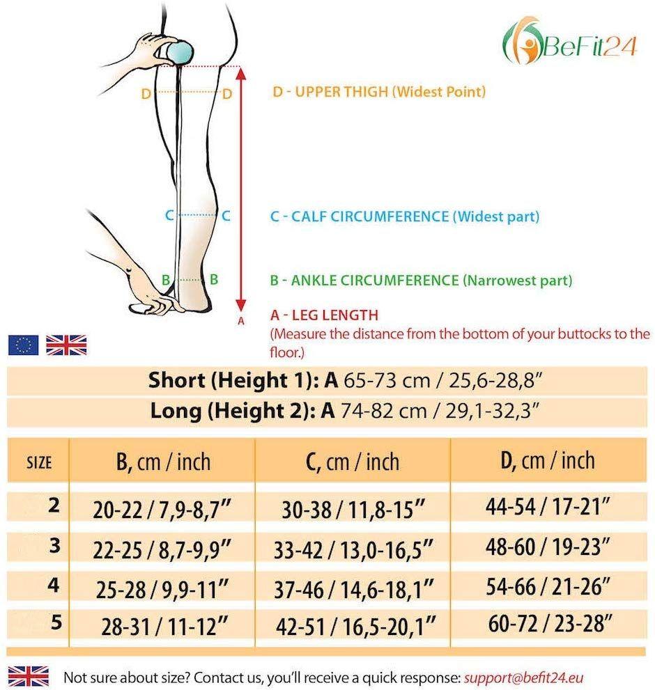 8a971c9095055d Amazon.com: ®BeFit24 Medical Compression Pantyhose for Women (23-32 mmHg