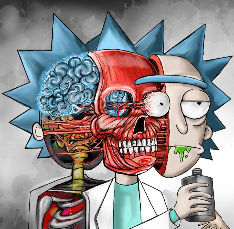 Rick and Morty   Rick, morty drawing, Rick, morty poster ...