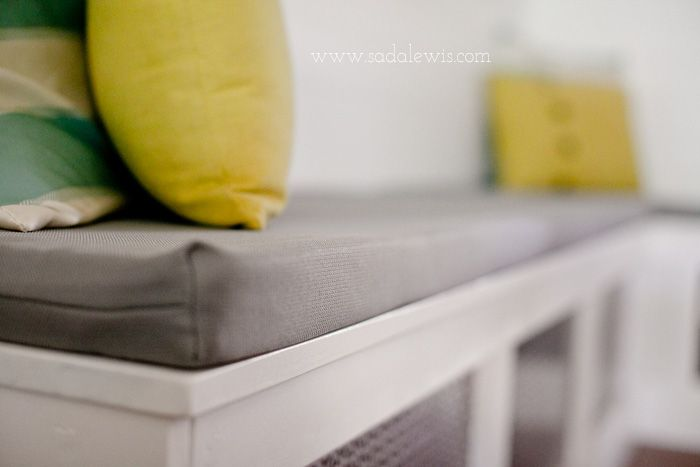 DIY Kitchen Banquet Final DIY Bench Seat Cushion Covers