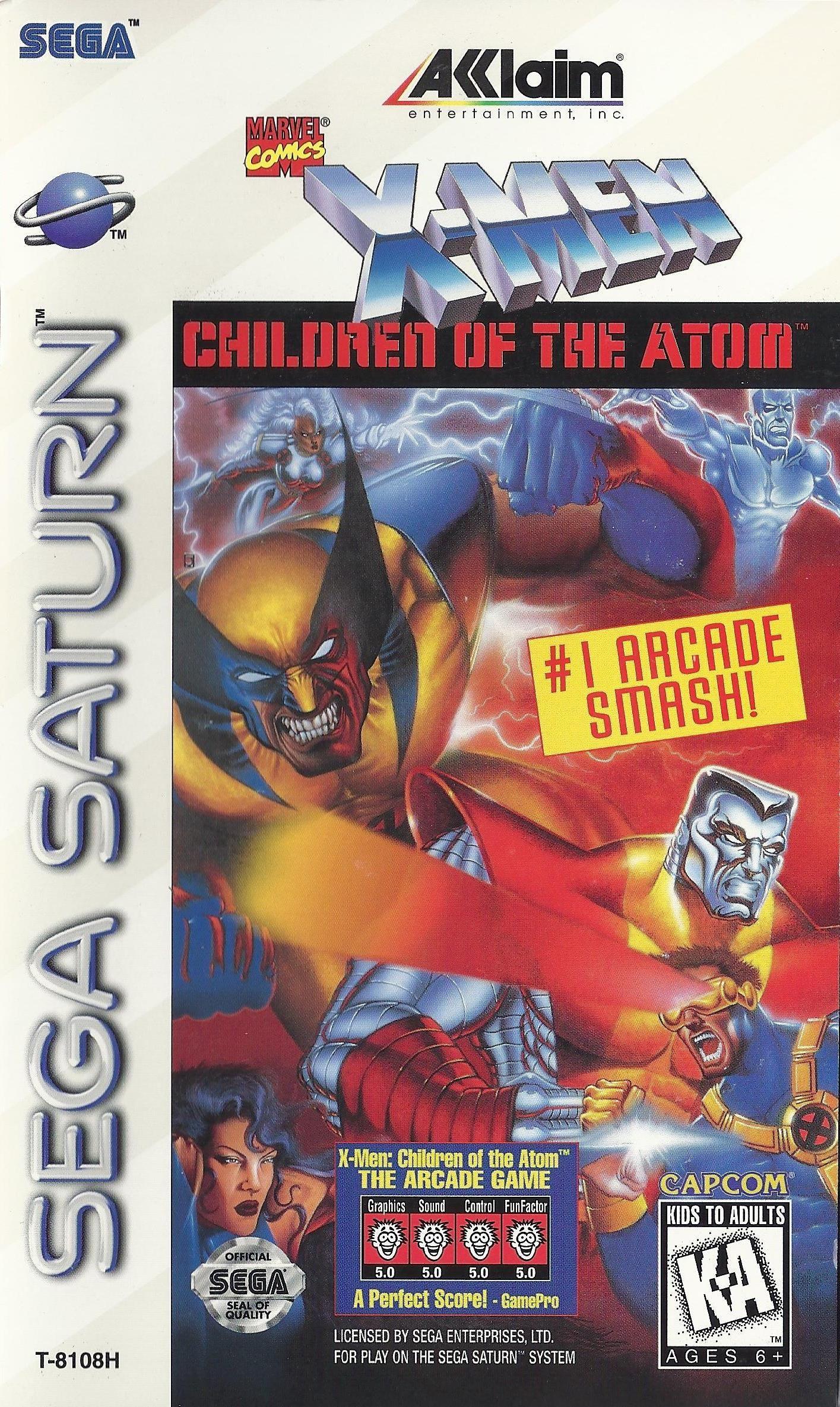 X Men Children Of The Atom Usa Sega Saturn Art Box Arcadegames Marvelvs Capcom Religionbelief Rutubogames Segasatu Saturn Art Marvel Vs Capcom Sega Saturn