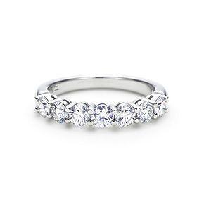8eba111e7d3 Dream wedding band! Shared-setting band half circle ring with diamonds in  platinum