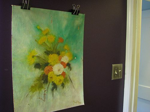 Hanging art without a frame (but staying away from thumb tacks and ...