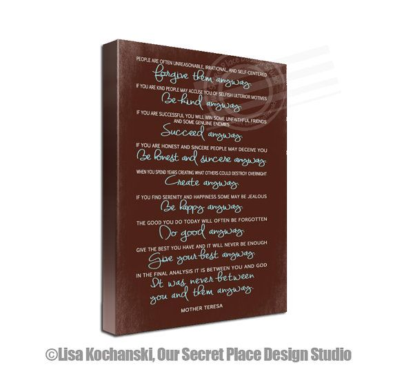 Mother Teresa Canvas Christmas Gifts For Mom Christmas Gifts For New Wll Stock Quote