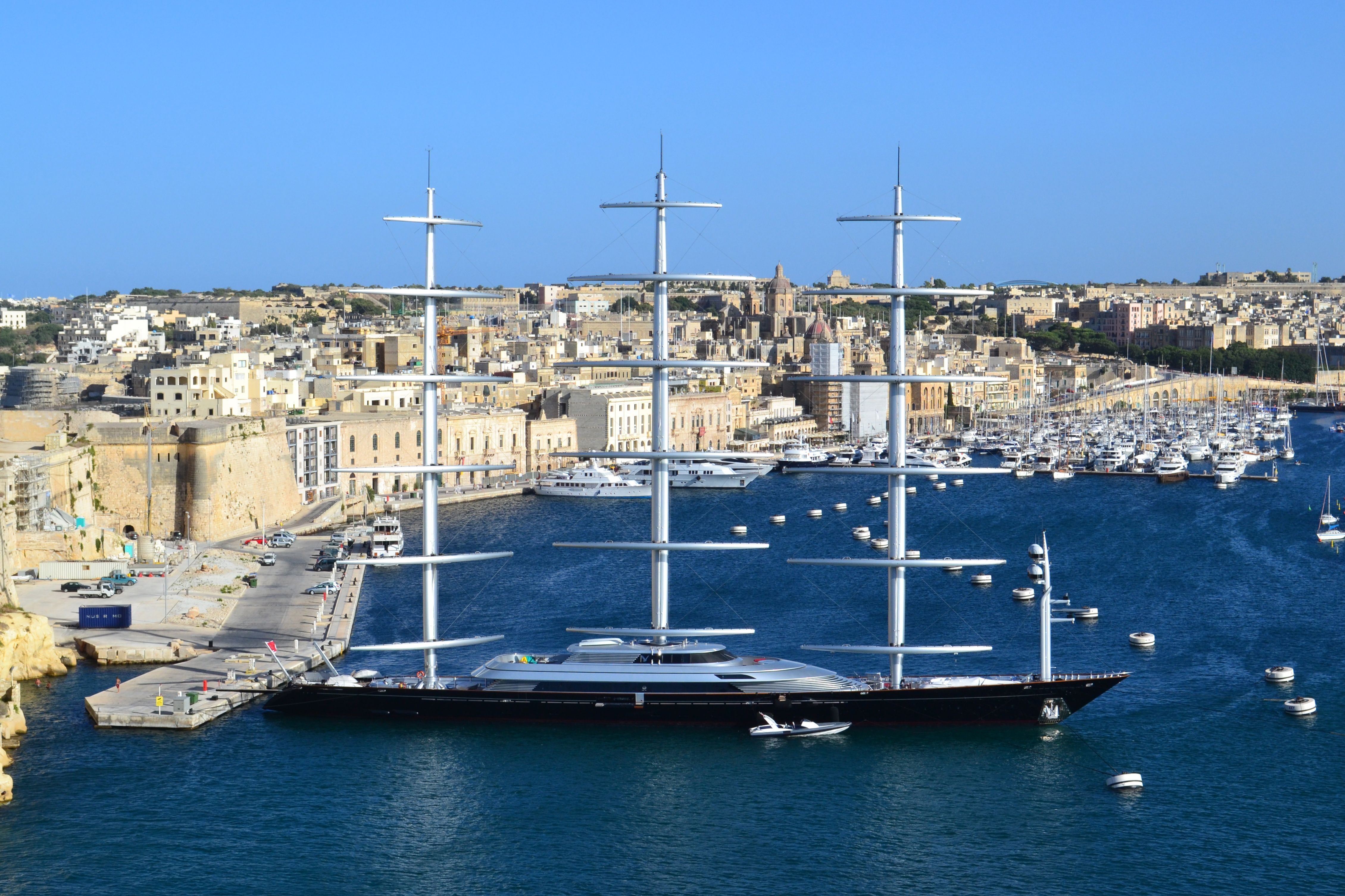 The Largest Sailing Yacht In The World The Maltese Falcon Malta 帆船