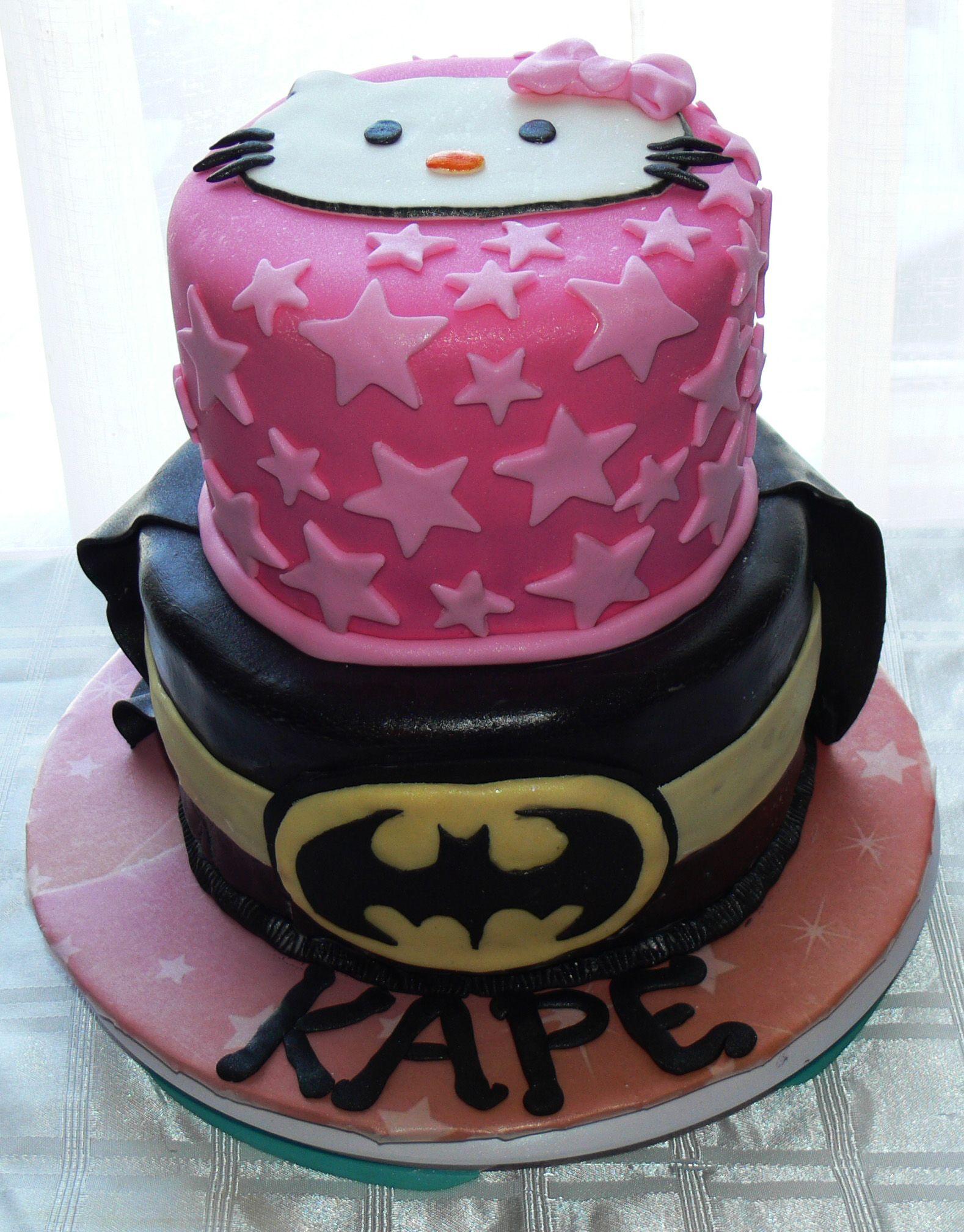 Favorite Things Birthday Cake Hello Kitty And Batman Www - Favorite birthday cake