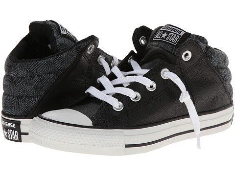 6ec08219768f Converse Chuck Taylor® All Star® Axel Leather Herringbone Mid Black Jasper  - Zappos.com Free Shipping BOTH Ways