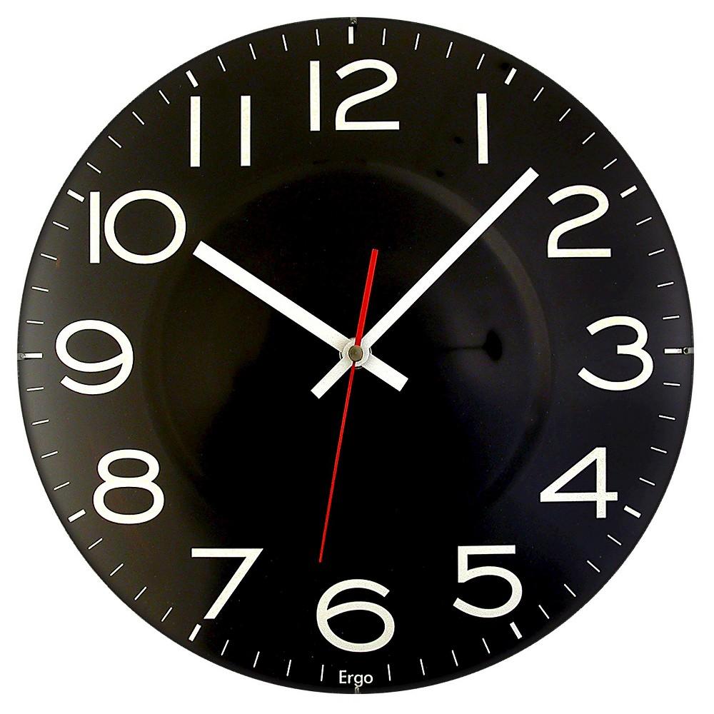 Contact Lens 11.5 Wall Clock Black - TimeKeeper