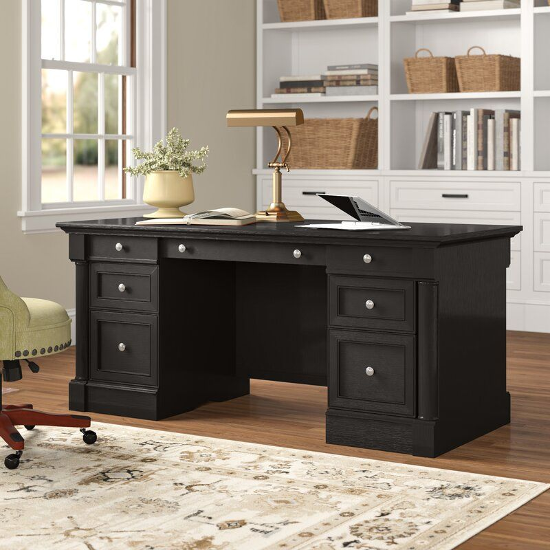 Walworth Wood Executive Desk In 2020 Home Office Design Executive Desk Home Office Desks